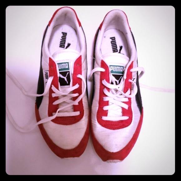 Puma Shoes | Unisex Puma Red White Blue